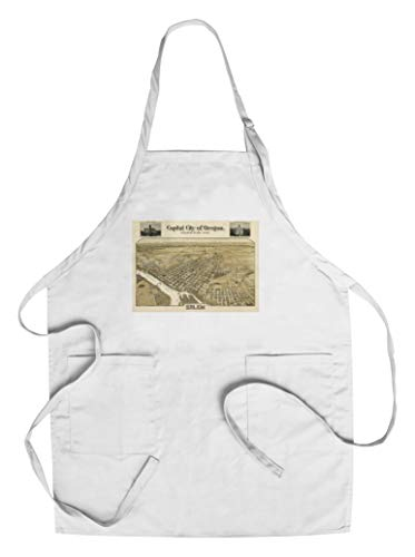 Salem, OR Panoramic Map - 1905 (Cotton/Polyester Chef's Apron)