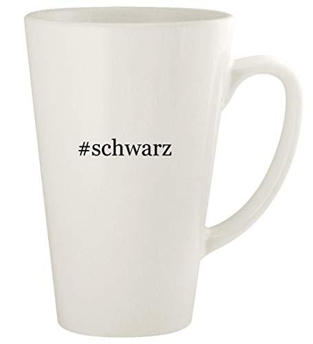 #schwarz - 17oz Hashtag Ceramic Latte Coffee Mug Cup, White (Damen Alles In Einem Badeanzug)