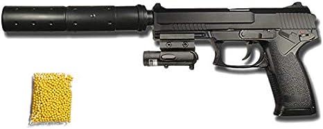 M23 Pistola USB Láser - Pistola de Airsoft Calibre 6mm (Arma Aire Suave de Bolas de plástico o PVC). Sistema: Muelle. <3,5J