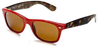 Ray-Ban RB2132 New Wayfarer Mirrored Sunglasses, RED FERRARI, 52 mm (B001UQ71FK) | Amazon price tracker / tracking, Amazon price history charts, Amazon price watches, Amazon price drop alerts