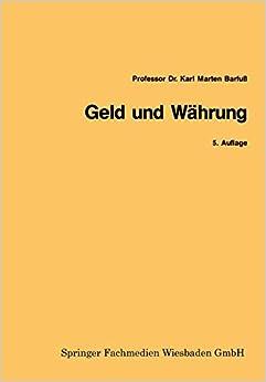 Geld und Währung (Gabler-Studientexte) (German Edition)