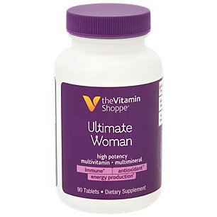 Ultimate Woman Multivitamin, High Potency Multi with Green Tea Extract – Energy Antioxidant Blend, Daily MultiMineral Supplement for Optimal Women's Health (90 Tablets) by The Vitamin Shoppe Review