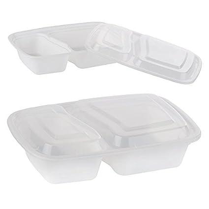 19a9f4093894 Amazon.com: Bulk Wholesale Supplies Fitness Meal Prep 2-Compartment ...