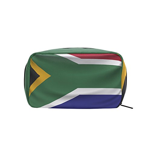 South Africa Flag Makeup Bag Multi Compartment Pouch Storage Cosmetic Bags by super3Dprinted