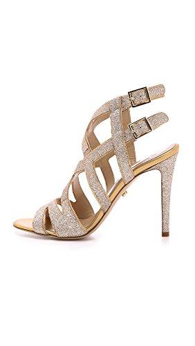 von Valene Gold Women's Diane Sandals Furstenberg Glitter Hqw4wTp