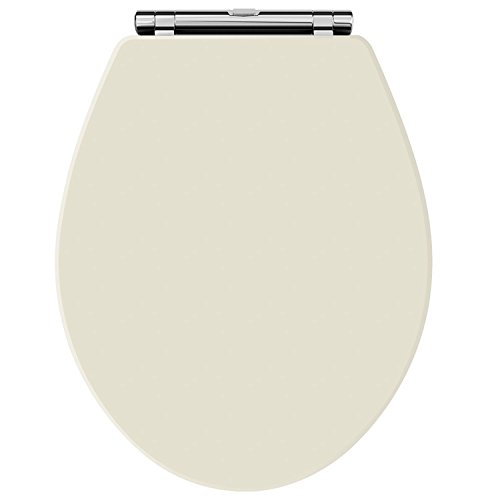 (Old London NLS399 Natural Walnut Chancery Toilet Seat, Ivory)