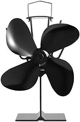 RoadRomao EQ-4BKA de Calor eficiente de distribución del Ventilador 4 de la lámina de Calor accionada Fan Estufa