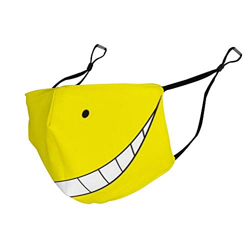 Assasination Classromm Yellow Koro Sensei Anti Dust & Filter Face Mask with Elastic Ear Loop Protection Mouth Mask