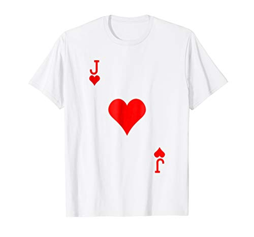 Jack of Hearts Costume Tshirt Halloween Deck of -