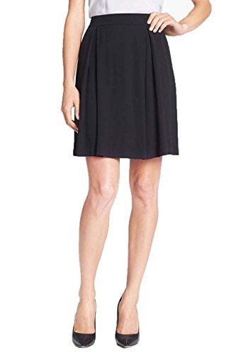 Eileen Fisher Women's Pleated Textured Silk Georgette Skirt Black, ()