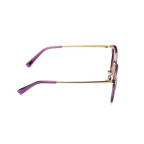polarizadas gafas protección sol retro 4 colores ocio nueva gafas C mujeres sol estrella de miopía conducción opcional UV regalo protección sombra al libre del de de UV400 Hiker aire Purple personalidad de qtdEwRR
