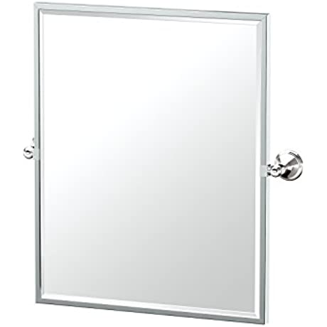 Gatco 4589FSM Laurel Ave Framed Small Rectangle Mirror Polished Nickel 25 H