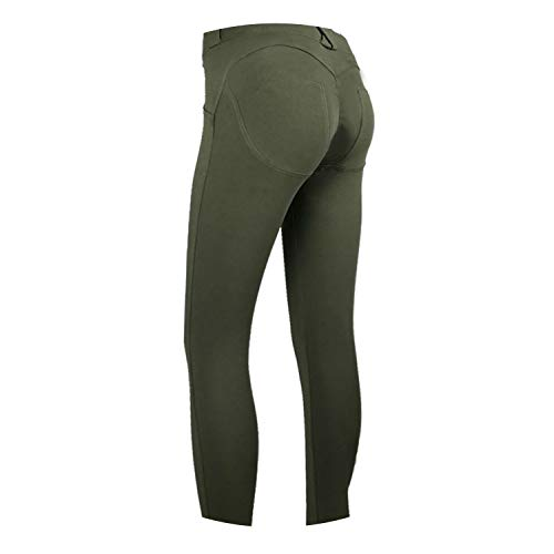 Baby hunter station Low Waist Leggings Women Sexy Push Up Pants Legging Leggins Jeggings 2019,Army Green,M