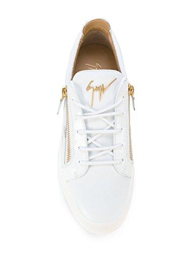 Sneakers In Pelle Bianca Giuseppe Zanotti Design Uomo Ru70000003