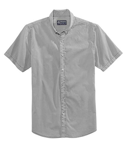 American Rag Mens Nora Button Up Shirt, Grey, Medium