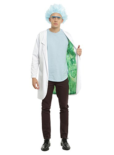 Official Rick and Morty Lab Coat Costume from Adult Swim - Size Large / (Morty Cosplay)