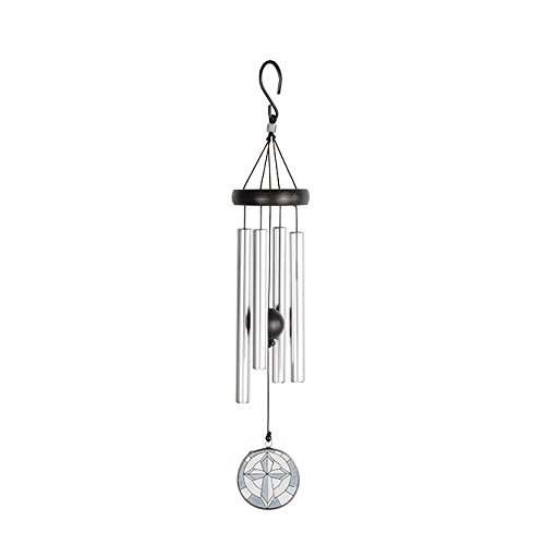 Wind Chime-Stained Glass-Cross (21
