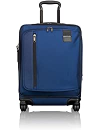 Merge Continental Expandable Carry-On Luggage - Rolling Suitcase for Men and Women - Ocean Blue