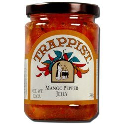 Trappist Mango Pepper Jelly - All Natural 12 oz. - Jelly Pepper Mango