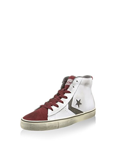 Converse Sneaker Alta Pro Vulc Mid Bianco/Rosso Scuro Size Is Not in Selection IT