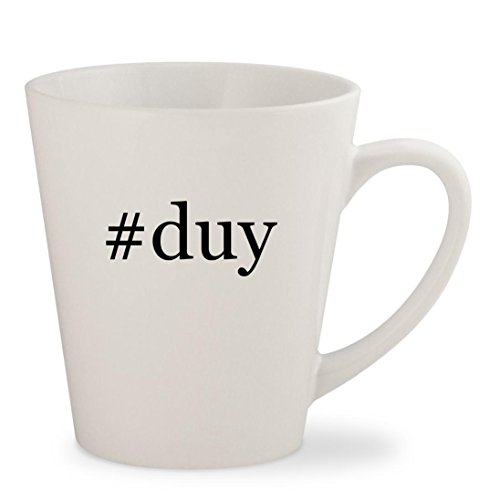#duy - White Hashtag 12oz Ceramic Latte Mug Cup (Gear Books Scuba Videos)
