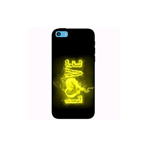 Coque Apple Iphone 5c - Love feu jaune
