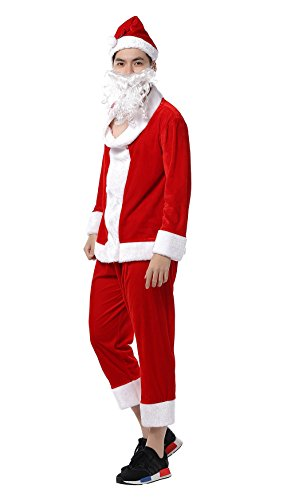 [YFFaye Women's Christmas Santa Claus Costume Party Stage Uniform] (Master Chief Suit For Sale)