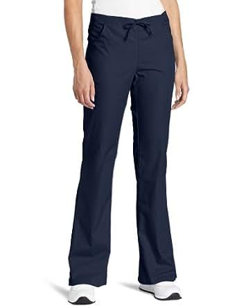 Dickies Scrubs Women's Petite Flare Leg Pant, Navy, XX-Large