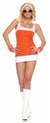 Mod Girl Halloween Costumes (Mod Girl Costume - Medium/Large - Dress Size)