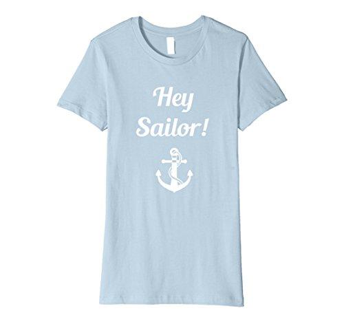 Women's Hey Sailor US Navy Appreciation T-Shirt Medium Baby Blue (Sailor Outfits For Men)
