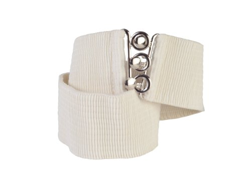 Square Up X-Large, Beige, 2.25 Inch Wide Elastic Fabric Stretch Cinch Belt with 3 Ring Clasp