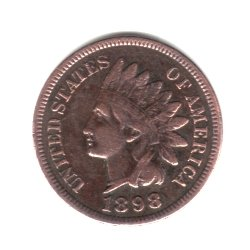 1898 U.S. Indian Head Cent / Penny Coin (Penny Bronze Coin)