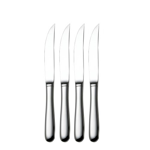 Towle Living 5038624 Basic Stainless Steel Hollow Handle Steak Knife, Set of 4