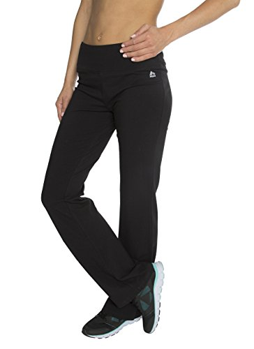 RBX Active womens Traditional Cotton Boot Cut Yoga Pant,Black,X-Large