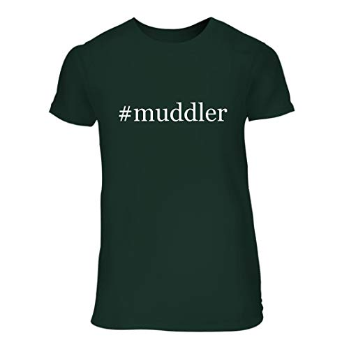 (#Muddler - A Nice Hashtag Junior Cut Women's Short Sleeve T-Shirt, Forest, Large)