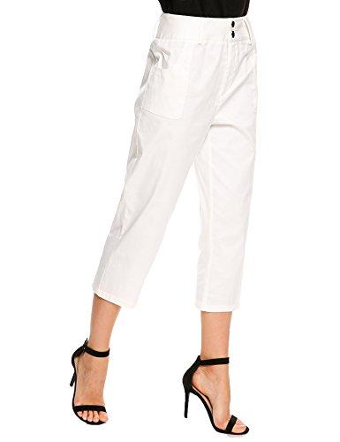 White Cotton Capris - 8