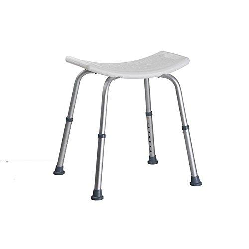 Homestyle 25742 Duschhocker, Plastik, weiß/aluminium, 51.0 x 45.0 x 56.0 cm