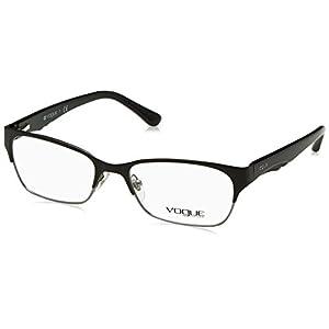 Vogue VO3918 Eyeglass Frames 352S-52 - Matte Black/brushed Gunmetal