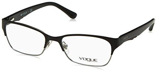 (Vogue VO 3918 Women's Eyeglasses Matte Black/Brushed Gunmetal 52)