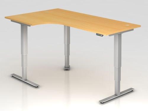 Hammerbacher Schreibtisch XDSM82 Buche/silber, VXDSM82/6/S