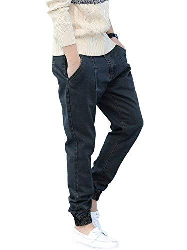 Hip Hombres Largos De Denim Pantalones del Los Pantalones Baggy De Ocasionales Jeans De Calle La Ropa Retro Pantalones Los Loose Hop Jeans Graublack Moda Estilo De CrrtOq