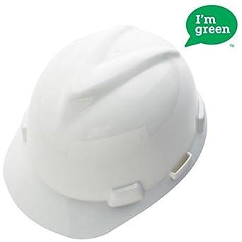 MSA Safety 10150199 verde polietileno de alta densidad V-Gard Cap con 4 punto Fas