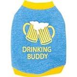 Cheap TOP PAW Blue Drinking Buddy Dog T-Shirt~MEDIUM~