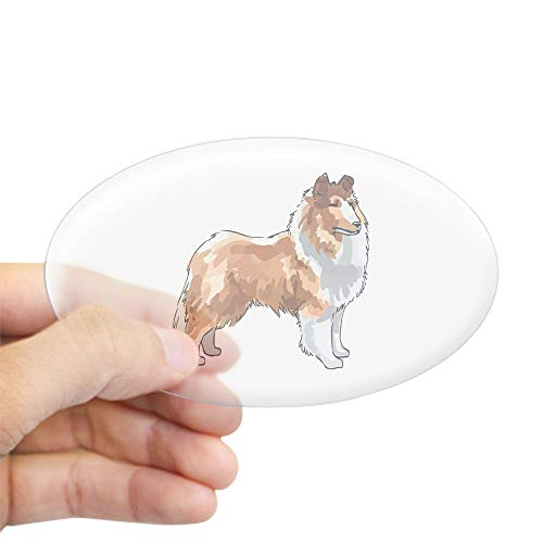 CafePress Rough Collie Sticker Oval Bumper Sticker, Euro Oval Car Decal