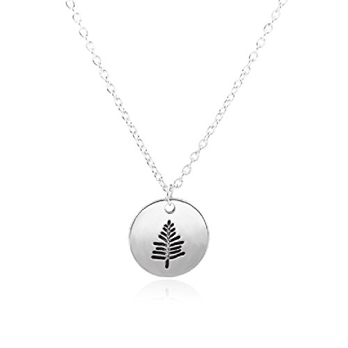 CanB Tree Necklace Evergreen Tree Necklace Tree Pendant Pine Necklace Winter Tree Necklace for Women (Silver)
