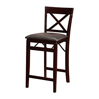 Amazon Com Slat Back Folding 30 Quot Barstool Bronze With