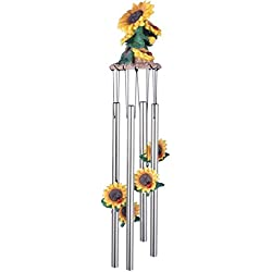 StealStreet SS-G-41805 Wind Chime Round Top Sunflowers Hanging Porch Garden Decoration Decor