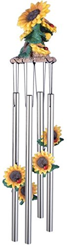 StealStreet SS-G-41805 Wind Chime Round Top Sunflowers Hanging Porch Garden Decoration Decor