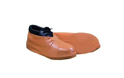 Keystone BC-RBR-XL-25PR Heavy Duty Latex Boot/Shoe Cover, XL, Orange (Pack of ()