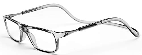 fd8fc40ada Click Magnetic Reading Glasses Adjustable Front Connect Reader Clear ...